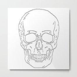 Skull and Crosses Metal Print