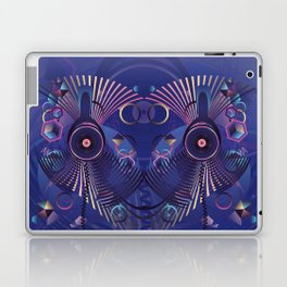 Stylized sound speaker with geometric elements Laptop & iPad Skin