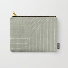 Lines (Linen Sage) Carry-All Pouch