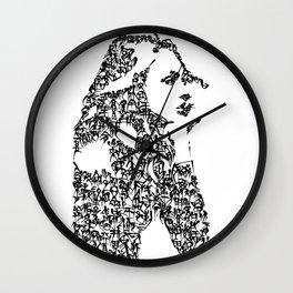 Kanji Calligraphy Art :woman's face#8 Wall Clock
