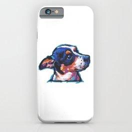 Rat Terrier Fun Dog portrait bright colorful Pop Art Painting by LEA iPhone Case