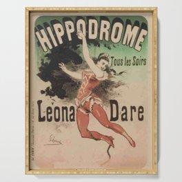 Hippodrome Leona Dare 1883 By Jules Cheret | Reproduction Art Nouveau Serving Tray