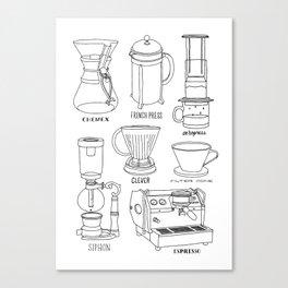 Coffee Brewing Canvas Print
