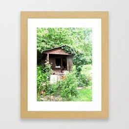 French Shed Framed Art Print