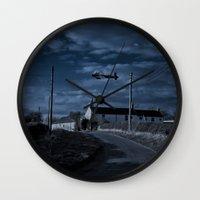 return Wall Clocks featuring The Return by 'Stuffy'