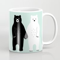 gray Mugs featuring Gray by Andy Westface