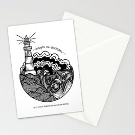 Lighthouse- Latin Sayings (Dead Language) Stationery Cards