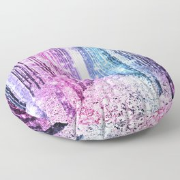 Magical Forest : Pastel Pink Lavender Aqua Periwinkle Ombre Floor Pillow