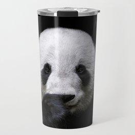 Cute panda bear portrait  Travel Mug