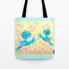 Bluebirds On My Mind Tote Bag