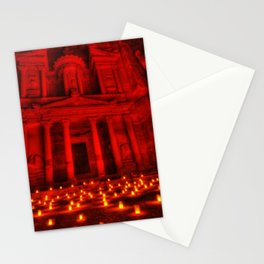 Nabatean Kingdom Petra 'Treasury' Ruins Rose City by Night Candle Ceremony Stationery Cards