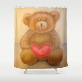 """Teddy Bear"" Toy by pastel Shower Curtain"