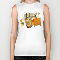 van Biker Tanks featuring van gogh by gazonula