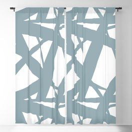 Pale Blue & White Abstract Mosaic Pattern 3 Pairs to Clare's 2020 Color of The Year Good Jeans Blackout Curtain