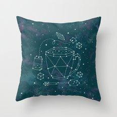 Tea Time Constellation Throw Pillow