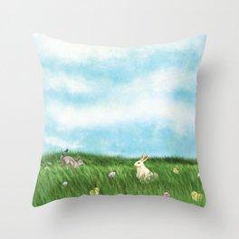 Easter Prairie 1a Throw Pillow