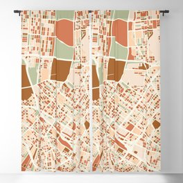 NEW ORLEANS LOUISIANA CITY MAP EARTH TONES Blackout Curtain