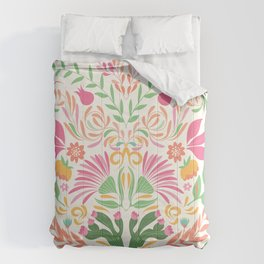 Tropical Pattern in Pink and Green Comforters