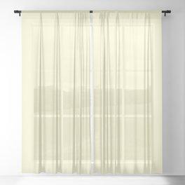 Cream Yellow Sheer Curtain