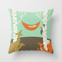 Woodland Baby Throw Pillow