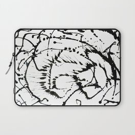 Black & White Abstract 1 Laptop Sleeve