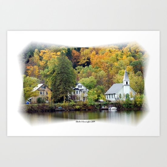 Along the Gatineau Art Print