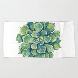 November Succulents Beach Towel