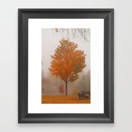 October Fog Framed Art Print
