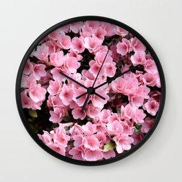 Mini azaleas #floral Wall Clock