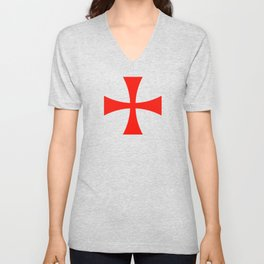 Knights Templar cross Unisex V-Neck