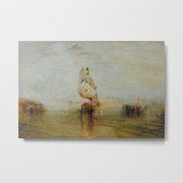 Joseph Mallord William Turner - The Sun of Venice Going to Sea Metal Print