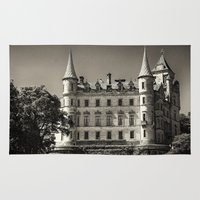 scotland Area & Throw Rugs featuring Dunrobin Castle Scotland by Roger Wedegis