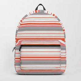 Orange Butterfly Coordinating Stripe Backpack
