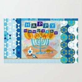 happy hanukkah collage Rug