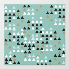 Scandinavian geometric triangle Canvas Print