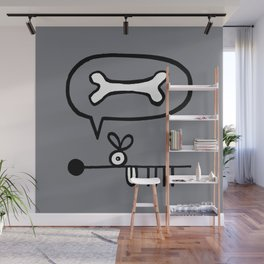 Abstract Dog Expresses Innermost Desire Wall Mural