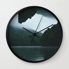 Throwing Flips on the Lake Wall Clock