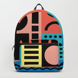 Neo Memphis Pattern 1 - Abstract Geometric / 80s-90s Retro Backpack