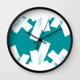 Viridian green/white crystall Wall Clock