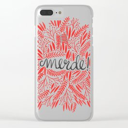 Pardon My French – Red on Cream Clear iPhone Case