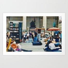Open air library at Munich Odeonsplatz Art Print