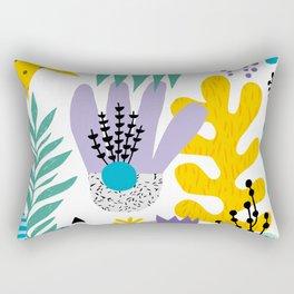 Abstract Plants Pattern Rectangular Pillow