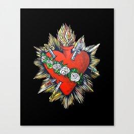 Sacred Heart Sagrado Corazon Canvas Print
