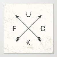 arrows Canvas Prints featuring Arrows by Text Guy
