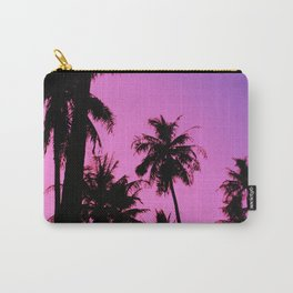 Tropical palm trees with purplish gradient Carry-All Pouch