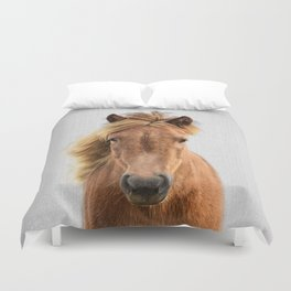 Wild Horse - Colorful Duvet Cover