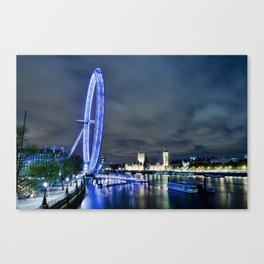London Eye Big River Canvas Print