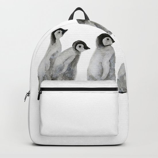 Little penguin says NO I am not going with you Backpack
