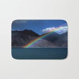 The Rainbow at Pangong! Bath Mat