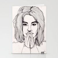 bjork Stationery Cards featuring Bjork by Paul Nelson-Esch Art